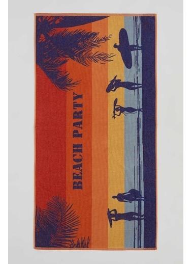 DeFacto Desenli Plaj Havlusu Camel